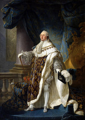 Antoine-francois Callet Painting - Louis Xvi King Of France And Navarre by Antoine-Francois Callet