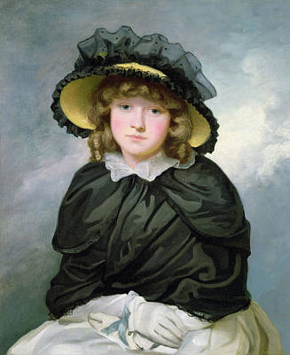 Black Lace Photograph - Louisa Lane, Called Cecilia, Before 1782 Oil On Canvas by John Hoppner