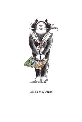 Louisa May Alcat Print by Louise McClain Reeves