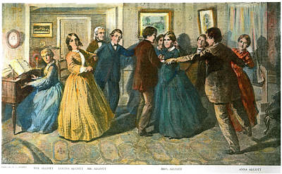Louisa May Alcottand Her Family Print by Granger