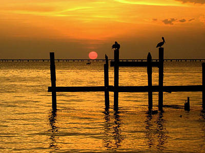 Louisiana Sunset  Print by Kathy Bassett