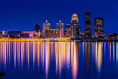 Clarksville Photograph - Louisville Skyline by Randy Scherkenbach