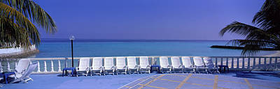 Empty Chairs Photograph - Lounge Chairs, Giraavaru, Maldives by Panoramic Images