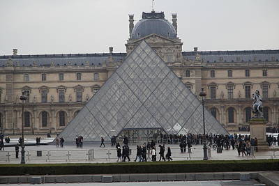 Louvre - Paris France - 011312 Print by DC Photographer