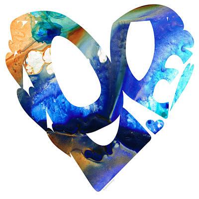Love 4 - Heart Hearts Romantic Art Print by Sharon Cummings