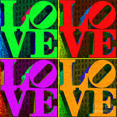 Love Park Digital Art - Love 4 Philadelphia - Painterly V4 by Wingsdomain Art and Photography