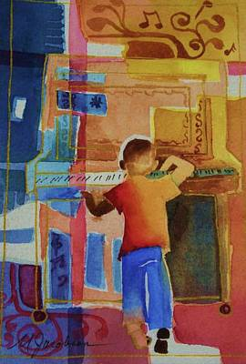 Love A Piano 1 Print by Marilyn Jacobson