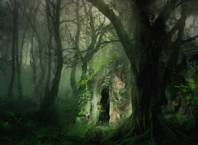 Textured Landscapes Painting - Love Affair With A Forest by Georgiana Romanovna