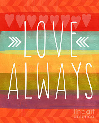 Love Always Print by Linda Woods