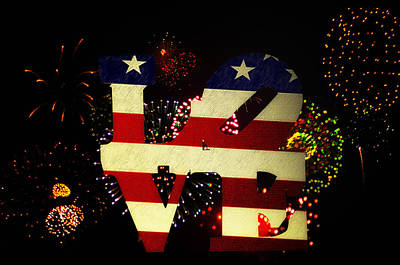 4th July Digital Art - Love American Style by Bill Cannon