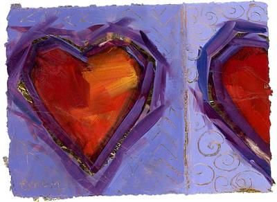 Painting - Love And A Half by Mary Byrom