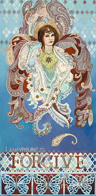 Seraphim Angel Mixed Media - Love And Forgive by Diane Soule