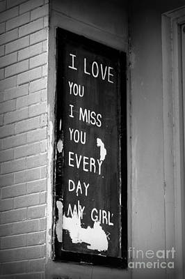 Photograph - Love And Miss You by Shawna Gibson
