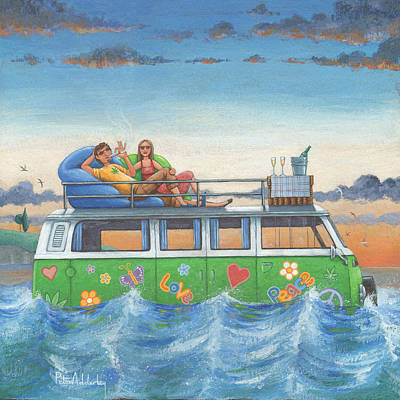 Love And Peace At Sea Print by Peter Adderley