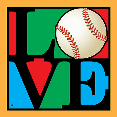 Love Baseball Print by Gary Grayson