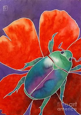 Beetle Painting - Love Beetle by Robert Hooper