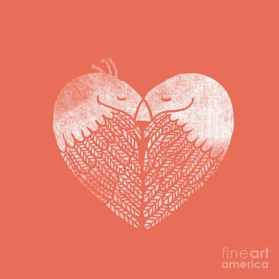 Heart Birds Print by Nava Seas