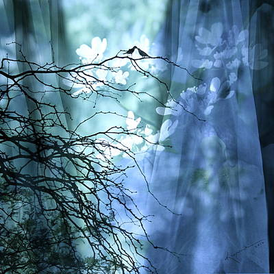 The Trees Mixed Media - Love Bird's Garden by Kume Bryant