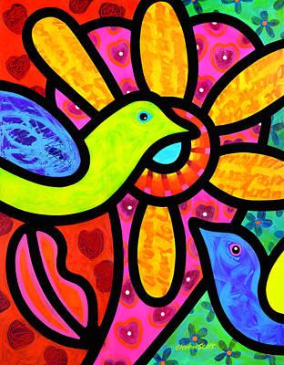 Love Birds Original by Steven Scott