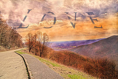 Country Scenes Photograph - Love Blue Ridge Parkway by Betsy Knapp