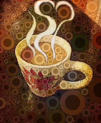 Coffee Digital Art - Love Coffee by Cindy Edwards