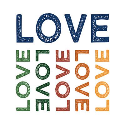 Hope Digital Art - Love Cute Colorful by Flo Karp