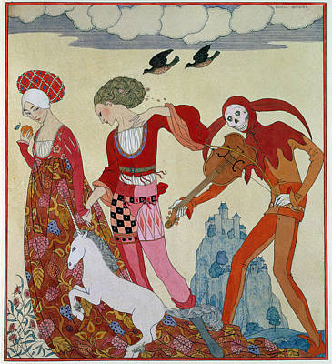 Swallowing Painting - Love Desire And Death by Georges Barbier