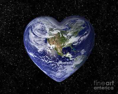 Valentines Day Digital Art - Love Earth by Delphimages Photo Creations
