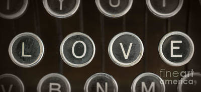 Typewriter Photograph - Love by Edward Fielding