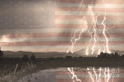 Thunderhead Photograph - Love For Country by James BO  Insogna