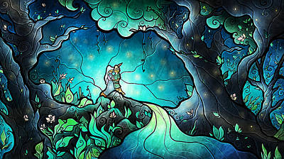 Firefly Digital Art - Love Goes On by Mandie Manzano