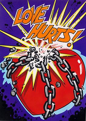Love Hurts Print by MGL Studio