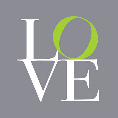 Love In Grey With A Lime Twist Print by Michael Tompsett