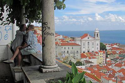 Church Pillars Painting - Love In Lisbon  by Robert Gerdes