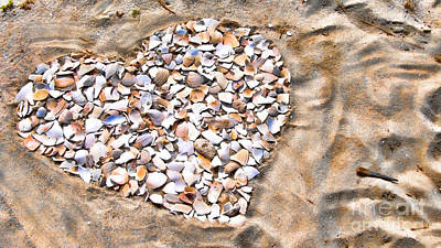 Love In The Sand Print by Colleen Kammerer