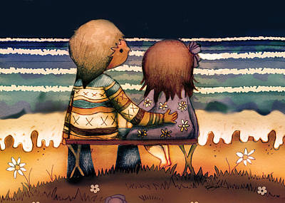 Friendly Digital Art - Love Is A Way Of Living by Karin Taylor