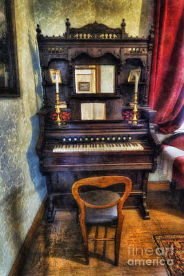 Aged Wood Digital Art - Love Is Called My Old Piano by Ian Mitchell