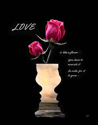 Love Is Like A Flower Print by Gerlinde Keating - Galleria GK Keating Associates Inc
