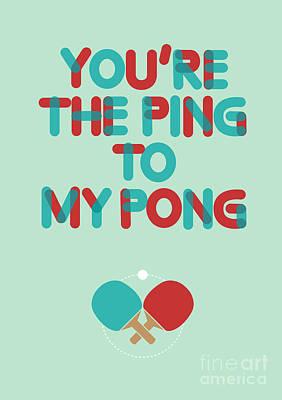 Ping Pong Love Print by Nava Seas