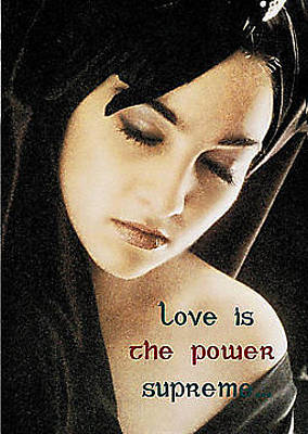 Love Is The Power Supreme Print by The Creative Minds Art and Photography