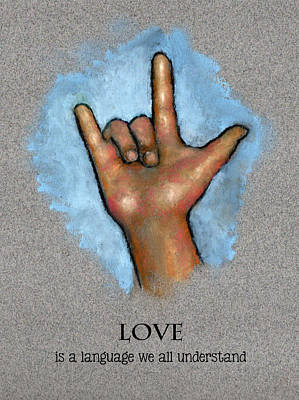 Love Language Sign Language Print by Joyce Geleynse