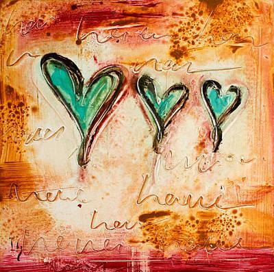 Christian Artwork Painting - Love Love Love by Ivan Guaderrama