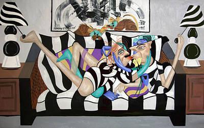Dog Artist Digital Art - Love Makes The World Go Round by Anthony Falbo