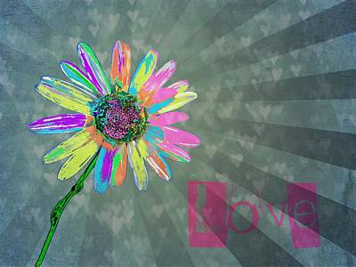 Graphic Digital Art Photograph - Love by Marianna Mills