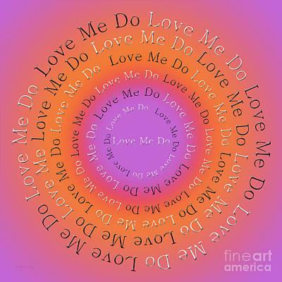 John Lennon Digital Art - Love Me Do 2 by Andee Design