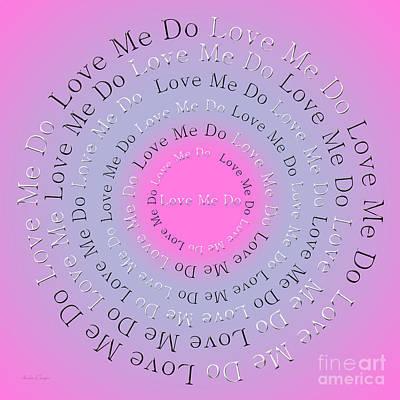 Beatles Digital Art - Love Me Do 3 by Andee Design
