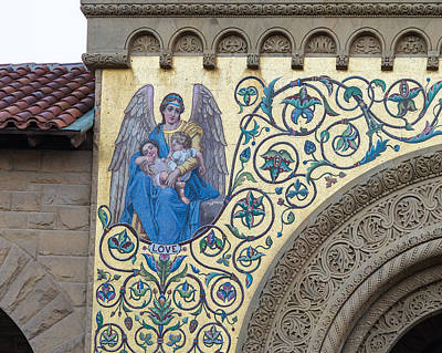 Stanford Photograph - Love Mosaic Detail Stanford Memorial Church  by Priya Ghose