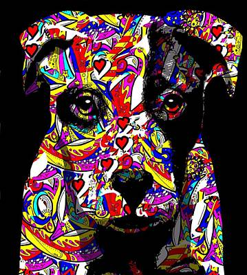 Love My Pup Print by Cindy Edwards