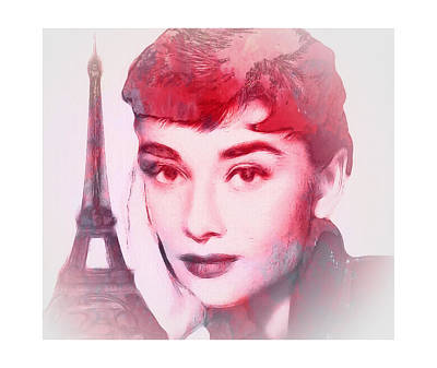Audrey Hepburn Mixed Media - Love Never Die by Steve K