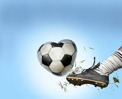 Fandom Photograph - Love Of Football by Smetek